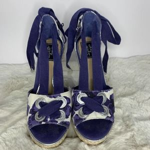 Milly For Sperry Floral Topsider Wedge Sandals